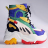 Anthony Wang TANGERINE-02 Multi Colorblock Wedge Super Hi Top Flatform Sneaker