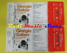 MC GIORGIO GABER Anche per oggi non si vola 2 mc 1974 italy no cd lp dvd vhs