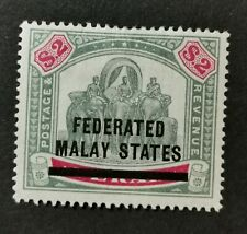 MALAYA STATES 1900 $2 SG12 HINGED MINT WITH ADHESIVE CAT £225.