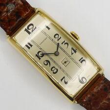 LONGINES übergroße Curvex 14ct Gold Herren Armbanduhr aus den 1930er Jahren 49mm
