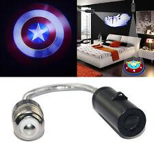 Captain America Bedroom wall ceiling E26 E27 LED logo projector decorative light