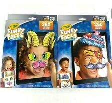 2x Crayola Funny Faces Crazy CostumesKit 4 Kids Create Over 250 Virtual Masks