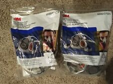 3M 6200 Respirator Lot of 2, One Medium & One Lg. (check my other items)