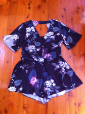 CITY CHIC FLORAL TWISTED FRONT PLAYSUIT SZ: L BNWOT RRP:$140