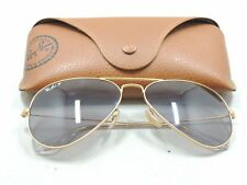 Ray Ban 3025 Matte Gold Aviator Polarized Sunglasses With Case 58 14