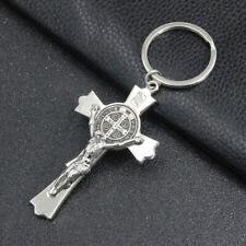 Crucifix Jesus Christ Cross Religion Figurine Keyring for Home Chapel Decor Flow