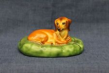 Herend Natural Dachshund in Bed / Dog / Puppy