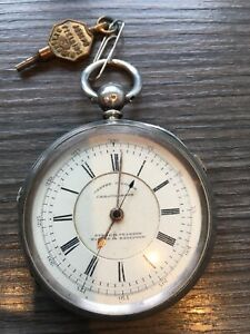 Solid Silver Doctors Marine Pocket Watch