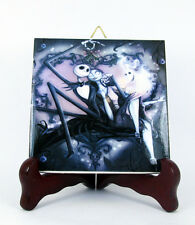 Jack and Sally from The Nightmare before Christmas collectible tile art m 25