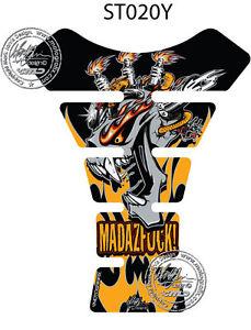 Mad Az F K Jaune 3D Gel Moto Réservoir Moto Graphique Protection Suzuki/Triumph