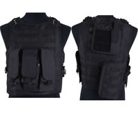 Hunting Military Paintball Molle FSBE Style Tactical Plate Carrier Vest Black