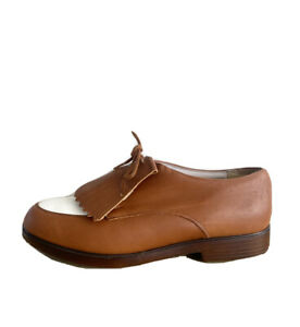 Munro Womens Oxford Shoes Brown And White Lace Up Size AU 9.5 N