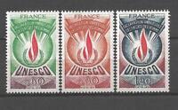 France 1975 timbres de service Yvert  n° 43 à 45 neuf ** 1er choix