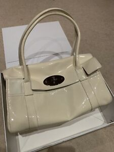 NEW Mulberry East West Bayswater Off-white Patent Leather Bag