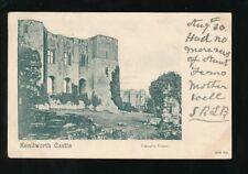 Warwickshire Warwicks KENILWORTH Castle Tower Victorian u/b PPC 1901