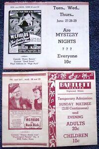 4 MOVIE HERALDS/1930's/featuring W.C. Fields, Kay Francis, Janet Blair, Garfield