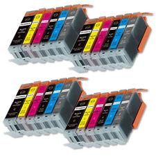 24 PK Printer Ink Set + CHIP w/ Gray fits Canon 250XL 251XL MG6320 MG7120 Pixma