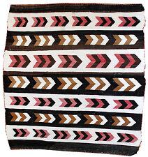 Hand made antique Native American Navajo Baby Blanket Rug 3' X 3.11' 1880 1B550