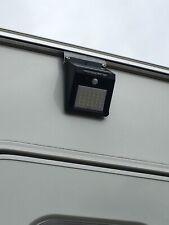2 X 30 LED Solar PIR motion sensor light - slides on caravanawning rail. PAIR