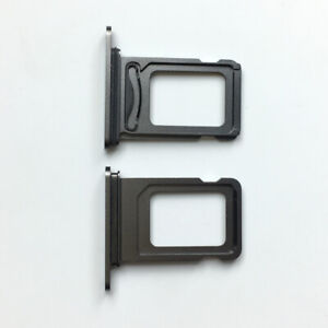 Black New Dual SIM Tray Holder Card Slot Repair Parts For iPhone 12 Pro
