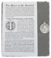 St. Saint BENEDICT Holy Medal & Pamphlet ~ 2pc