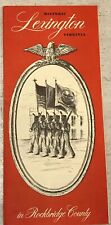 Vintage Antique  Historic Lexington, Virginia Travel Brochure