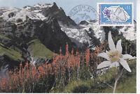 Carte Postale 1er jour 1974 Club Alpin Centenaire