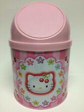 Sanrio Hello Kitty Desktop Trash Garbage Can 1998 NEW