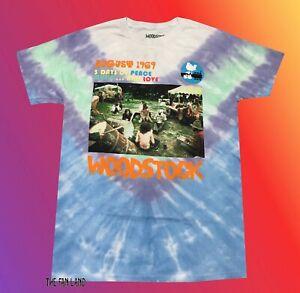 New Woodstock Concert Tie Dye 1969 Photo Vintage Mens T-Shirt