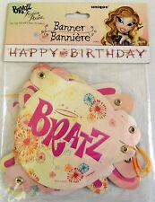 BRATZ BIRTHDAY PARTY BANNER Happy Girls Decoration Child Dolls MGA Pixiez NEW