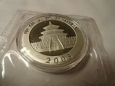 New Listing2005 Chinese One Ounce Silver .999 Fine Panda Gem double factory sealed