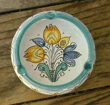 Vintage Hand-Painted FLORAL ASHTRAY Made in Hungary ZSURIZTE