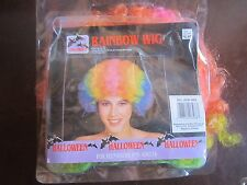 Halloween Costume Dress Up Rainbow wig one size fits all for teenagers and Adult