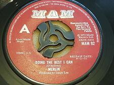 """Merlin, Doing The Best I Can, I'm Going Home, UK, 1973, MAM 92, Promo, Vinyl, 7"""""""