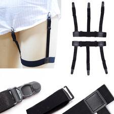 2x Elastic Shirt Stay Garter Belt Corset Holder Stocking Fastener Suspender