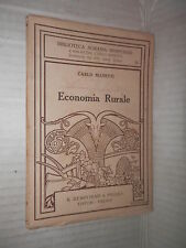 ECONOMIA RURALE Carlo Manetti R Bemporad 1924 scienza tecnica libro saggistica