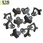 10 BLACK Rustic Open Here Cast Iron Wall Mount Beer Bottle Openers Soda Open
