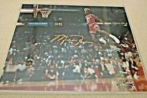 AUTHENTICATED Michael Jordan  Slam Dunk 8x10 Photo Auto Upper Deck