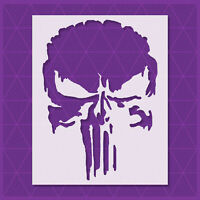 Punisher Skull stencil - Reusable Template