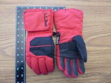 Ll Bean Kids Medium Durable & Warm Snowboard Ski Gloves Waterproof Warm Red Vguc