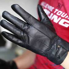 Mens Leather Gloves Thermal Thinsulate Lined Drive Soft Winter Xmas Hot Cool
