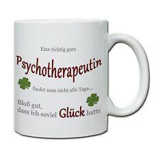 """Tasse, Keramiktasse """"Eine richtig gute Psychotherapeutin..."""" von handmade-in-nb®"""