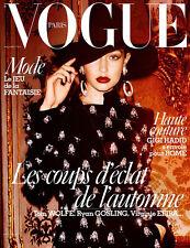 Vogue PARIS Magazine NOV 2016 GIGI HADID Mario Testino SASHA PIVOVAROVA