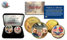 American CIVIL WAR *150th Anniversary* 24K Gold USA Legal Tender,NEW 2-Coin Set