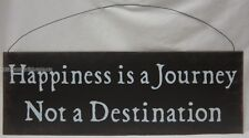 New Rustic Country Style Tin Wall Sign Happiness Is a Journey Not a Destination