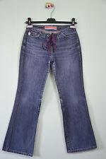 GUESS Womens Casual Retro Look Vtg Cotton Blue Denim Lace up Jeans sz 24 XXS L82