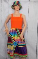 Fair Trade Tie Dye Dress Soft Cotton Festival Beach Hippie Boho Hippy XL 14