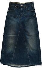 Levis Jeans Maxi Trumpet Skirt Distressed Denim Blue Modest size 4
