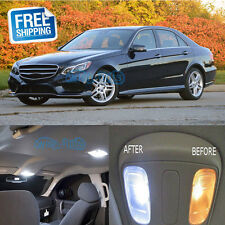19x White Interior LED Lights Package For Mercedes Benz W212 E350 2009-2014
