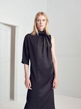 JOHN LEWIS - LIMITED EDITION - Black Rouched Neck Oversized Midi Dress - Size 10